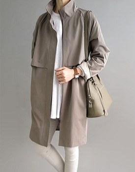 Cael trench coat - beige khaki