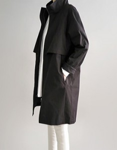 Cael trench coat - black