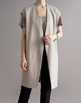 Loe linen vest - 3c