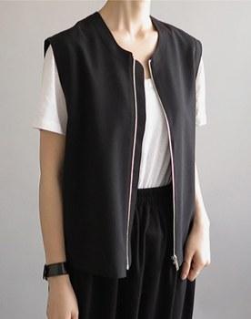 Owen zipper vest - 2 colors