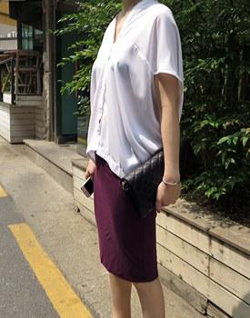 Double slim skirt