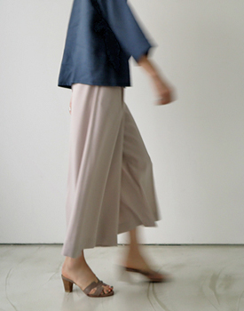 Mores wide slacks - dove beige