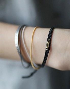 Thin 3-line bangle