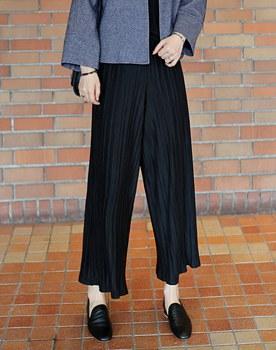 Style pleats wide pants