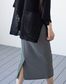 Toss stripe skirt - 2c