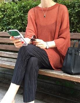 Plain linen knit - 3c