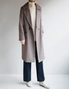 Lambert Check Long Coat