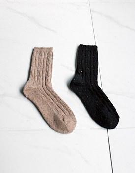 Bokashi wool socks - 2c