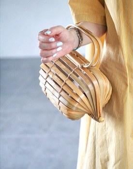 Circle Rattan bamboo bag