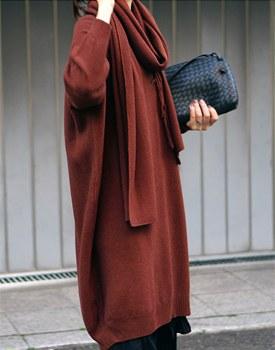 [当天发货]抹布meopulreo套装针织连衣裙 -  2C细腻怔想多听就好〜