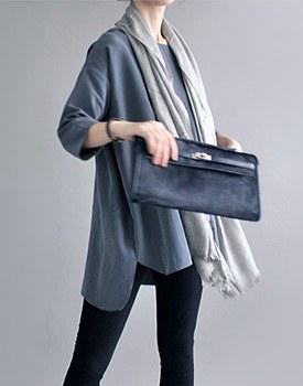 Domininc long blouse - gray