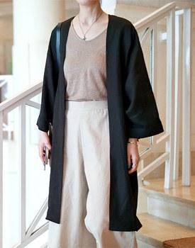 Cool linen robe cardigan