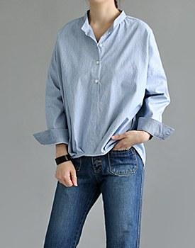 Blouson Stripe Shirts