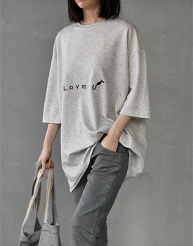 Love embroidery tee -  2c