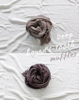 Deep Hound-tooth muffler - 2c