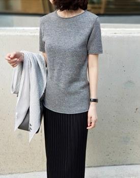 Wool Basic Knit Top - 2c