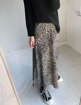 Leopard A Line Skirt