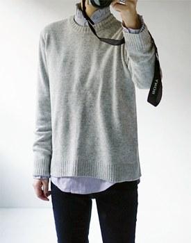 Frill stripe shirt