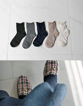 Rolling Corrugated Socks - 5c