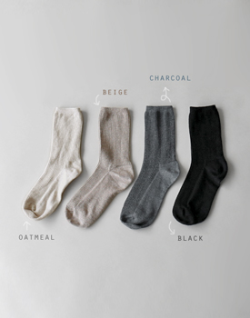 Long Leg Corrugated Socks - 4c