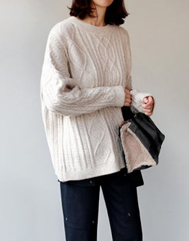 Cash Cable Knit - 3c