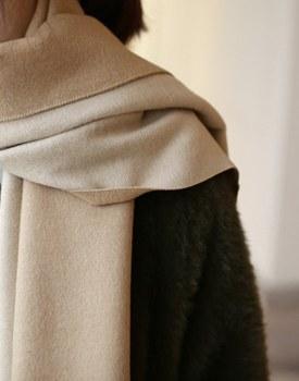 Two-tone Wool muffler - 3c