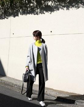 A line wool coat