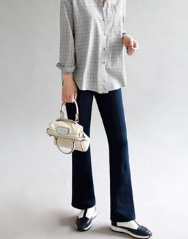[19 SS新5%百分比]鞋形针褶裤 -  2c