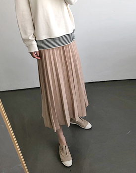 Reuben Pleats Knit Skirt - 3c