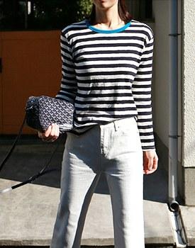Sarah neckline Point Tee - 3c