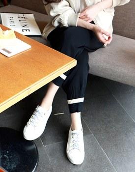 Line knit jogger pants - 2c