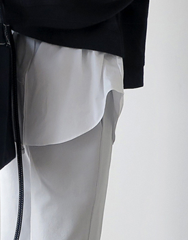 Layered shirt skirt