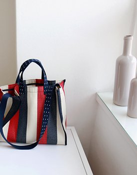 Stripe Square Bag - 2c