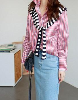 Nose striped shirt - 2c