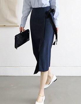 Jamie striped skirt