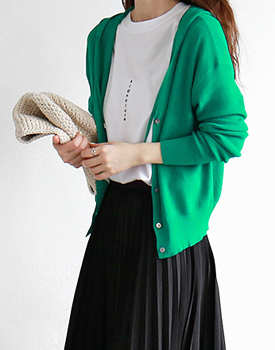 Hooded Knit cardigan - 2c