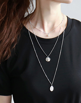 Coin Triple Necklace