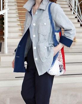 Herringbone linen shirt jacket- 2c