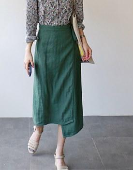 Chloe linen wrap skirt - 3c
