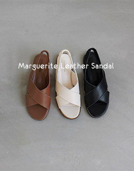 Marguerite Leather Sandal - 3c