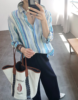 Crema linen shirt