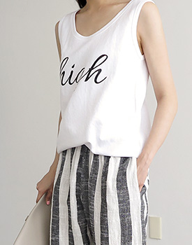 high sleeveless top - 3c