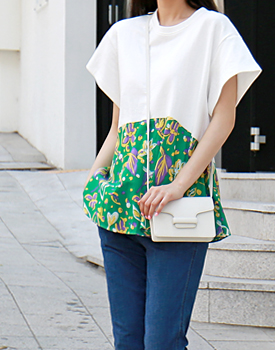 Flower color combination Top - 2c