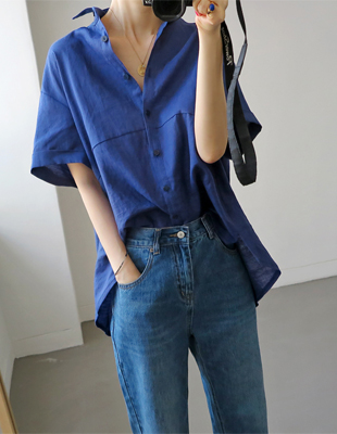 Roll-up linen shirt - 2c