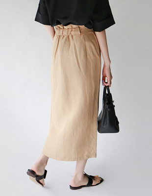 Mael Linen Long Skirt - 3c