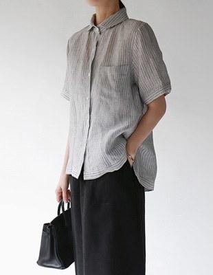 comm linen stripe shirts