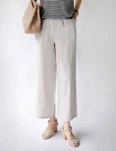 Pure linen pants - 2c