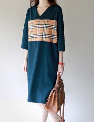 [FW 5%折扣]声音检查颜色连衣裙