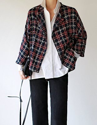 Gu. Tweed cardigan jacket - 2c