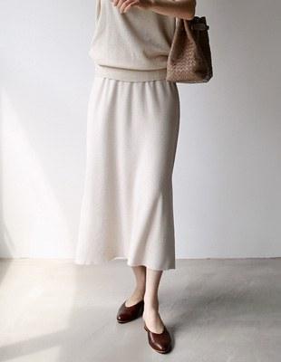 Slit Knit Skirt - 3c